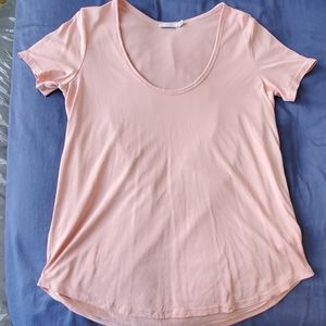 Aritzia Talula Valmere T-shirt Peachy Pink Small